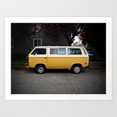 magnetic yellow (Curbside VW photo series) Art Print