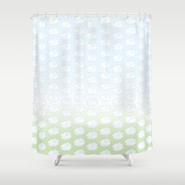 Floof Clouds Shower Curtain