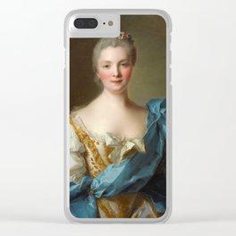 Madam de La Porte Portrait by Jean - Marc Nattier Clear iPhone Case