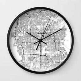 Minimal City Maps - Map Of Las Vegas, Nevada, United States Wall Clock