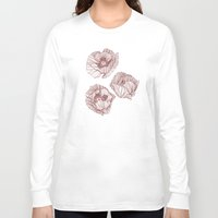poppies Long Sleeve T-shirts featuring Poppies by Annike