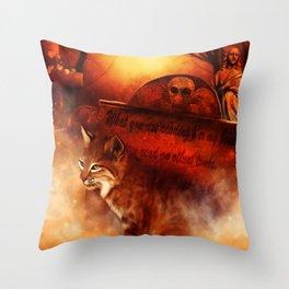 Bobcat Spirit Throw Pillow