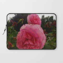 Round Pink Rose Laptop Sleeve