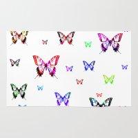 butterflies Area & Throw Rugs featuring Butterflies. by haroulita