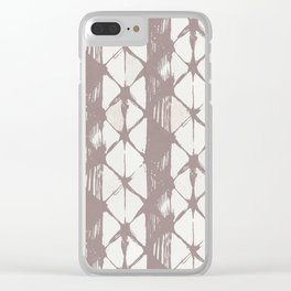 Simply Braided Chevron Red Earth on Lunar Gray Clear iPhone Case
