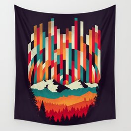 Sunset in Vertical Multicolor Wall Tapestry