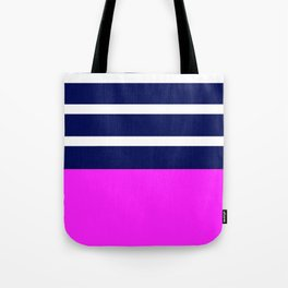 Summer Patio Perfect, Pink, White, Navy Tote Bag