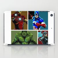 avenger iPad Cases featuring Avenger Team by Carrillo Art Studio