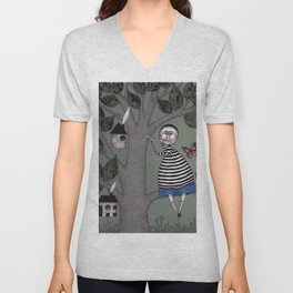 A Day for Sitting in a Tree Unisex V-Neck