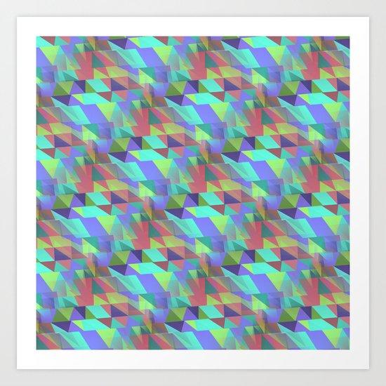 Multicolor triangles Art Print
