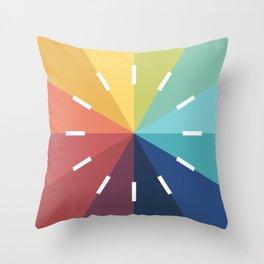 Modern Color Wheel Throw Pillow