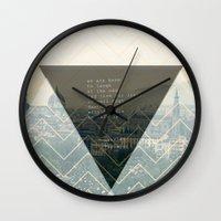 bukowski Wall Clocks featuring bukowski by pixel.pwn | AK