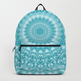 Caribbean Blue Mandala Backpack