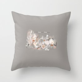 Three dancers Throw Pillow