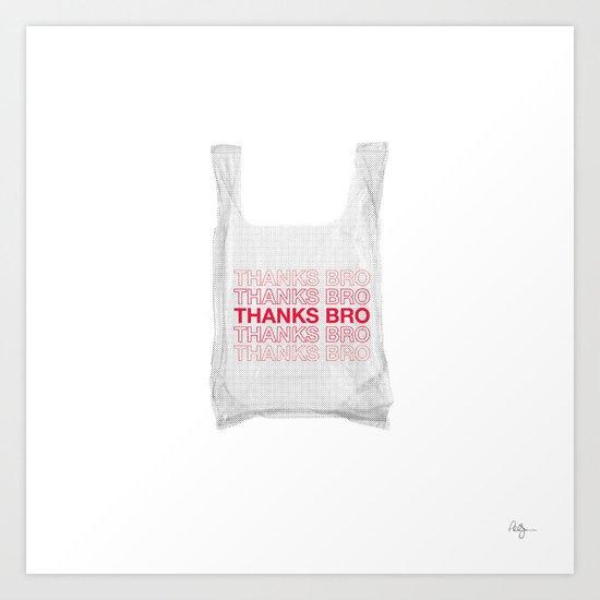 Douche Plastic Bag Art Print