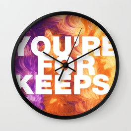 SUNDAYS ARE FOR SOULMATES / You're for keeps Wall Clock