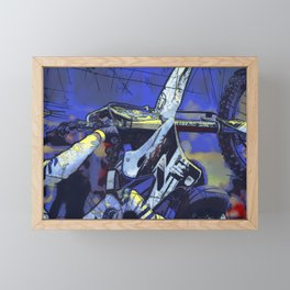 All Revved Up - Freestyle Motocross Rider Framed Mini Art Print