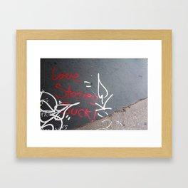 Love Stories. Framed Art Print
