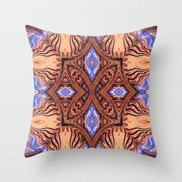 Ancient Silk Road Caravan Exotic Ethnic Motif Throw Pillow