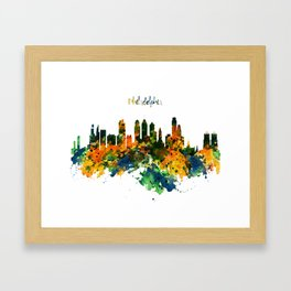 Philadelphia Watercolor Skyline Framed Art Print