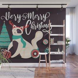 Merry Kitty Christmas Wall Mural