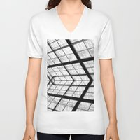 san diego V-neck T-shirts featuring San Diego library by eightjay