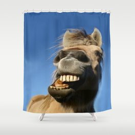 Happy Horse Photography Print Shower Curtain
