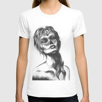 sugar skull T-shirts featuring Sugar Skull by Lena Safaniouk