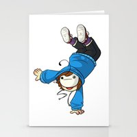 cryaotic Stationery Cards featuring Cryaotic 'BALANCE!' by Crazy Corners