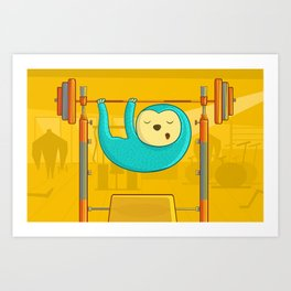 Keeping a healthy life style Art Print