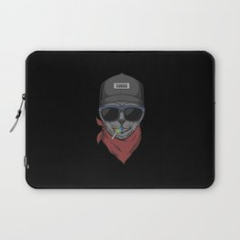 Cool Cat With Baseball Cap And Lollipop Laptop Sleeve