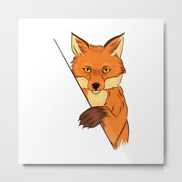 FOX ILLUSTRATION Metal Print