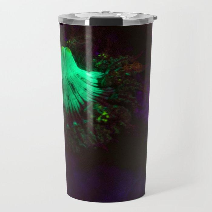 Volcano of fluorescent anemone Travel Mug