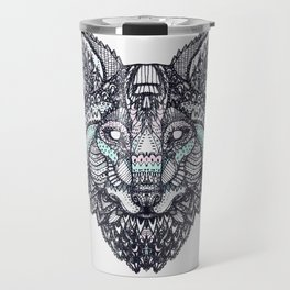 Psychedelic Wolf Travel Mug