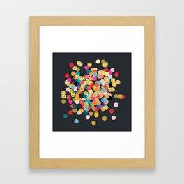Gold & Colorful Confetti Framed Art Print