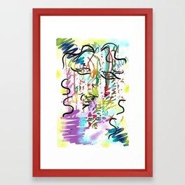 Colour face Framed Art Print