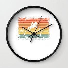 Vintage Heartbeat Horse Riding Retro Gift Idea Wall Clock