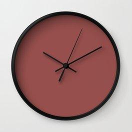 Marsala Wine Solid Color Wall Clock