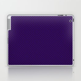 Houndstooth Black & Purple small Laptop & iPad Skin