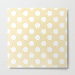 Lemon meringue - pink - White Polka Dots - Pois Pattern Metal Print