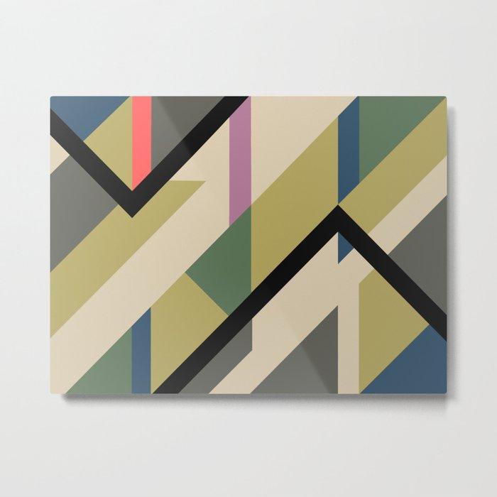 Modernist Dazzle Ship Camouflage Design Metal Print