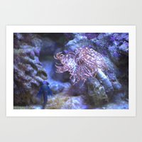 the life aquatic Art Prints featuring Aquatic Life by tina s tippett