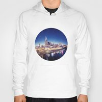 nashville Hoodies featuring One night in Nashville by GF Fine Art Photography