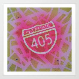 Interstate 405 Art Print