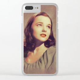 Wanda Hedrix, Vintage Actress Clear iPhone Case