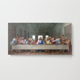 The Last Supper by Leonardo da Vinci Metal Print