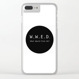 What Would Elon Do? Clear iPhone Case