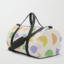 Vintage Shapes Pattern - Pastel Duffle Bag