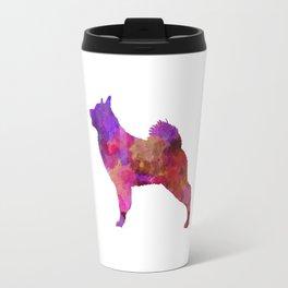 Norwegian Elkhound in watercolor Travel Mug