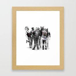Punk Animal Framed Art Print